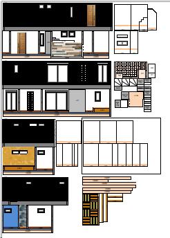間取図から建築模型(住宅模型)を作ってみた_その②