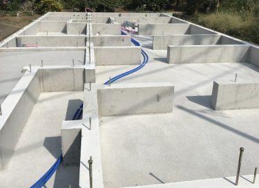 基礎の給水・給湯・排水菅引き込み・配管工事